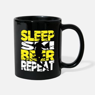 Slope Skiing Ski and Beer Skiing Ski Slope - Mug