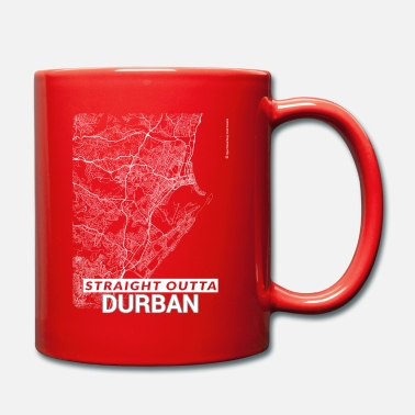 Durban Straight Outta Durban city map and streets - Mug
