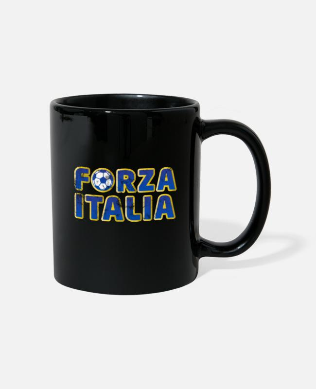 Fan Mugs & Drinkware - Forza Italia Calcio - Mug black