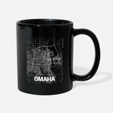 Omaha Omaha city map and streets - Mug