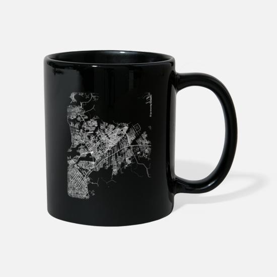 Area Mugs & Drinkware - Minimal Ananindeua city map and streets - Mug black