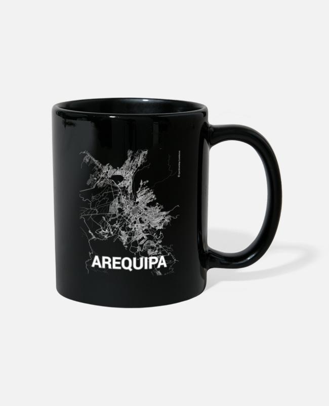 Design Mugs & Drinkware - Arequipa city map and streets - Mug black