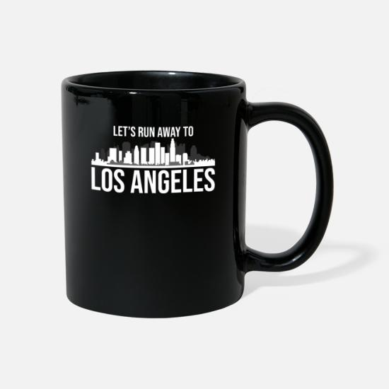 Gift Idea Mugs & Drinkware - Let's run away to Los Angeles gift trip - Mug black