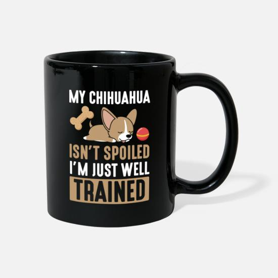 Love Mugs & Drinkware - Cute chihuahua puppy animal dog - Mug black