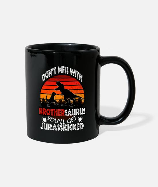 Son Mugs & Drinkware - brothersaurus funny gift for brother or son - Mug black