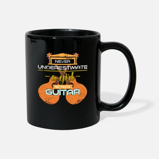 Gift Idea Mugs & Drinkware - Guitar girl - Mug black