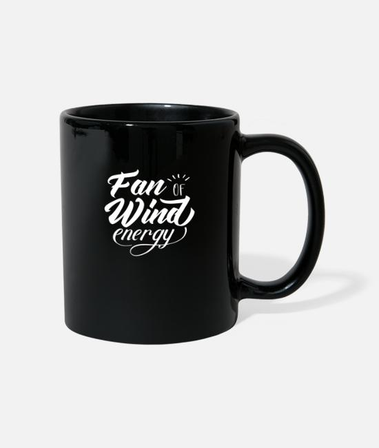 Wind Turbine Mugs & Drinkware - Wind power wind wheel wind energy wind turbine wind - Mug black