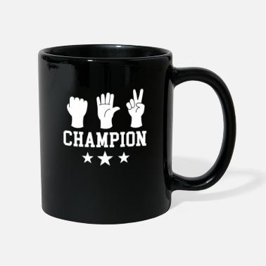 Paper Scissors rock paper champion winner of the useless - Mug
