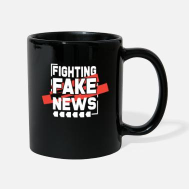 Fake Funny Fighting Fake News Blogger Journalist | - Mug