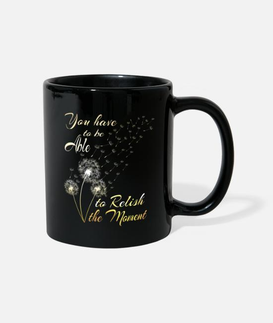 Rural Mugs & Drinkware - Dandelion Meadow Wild Herbs Gift - Mug black
