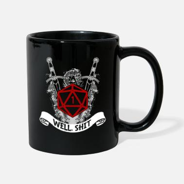 Rpg Cool Fantasy D20 Dice Heartbeat Well Shit D20 - Mug