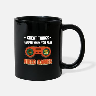 Laptop Great Things Happen -For Gamers - Mug