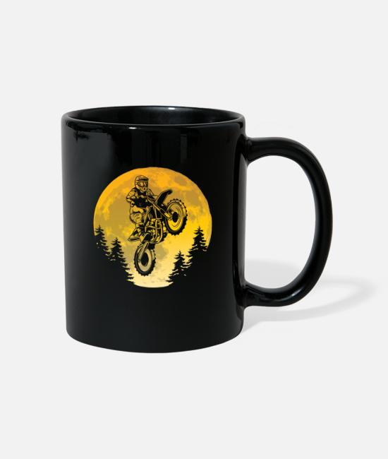 Renner Mugs & Drinkware - Motocross Dirt Bike Stunts Cool gift idea - Mug black