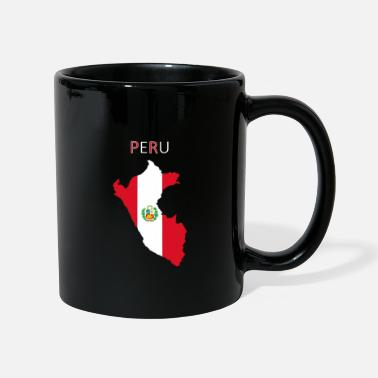 Lake Titicaca Peru flag - art design - Mug