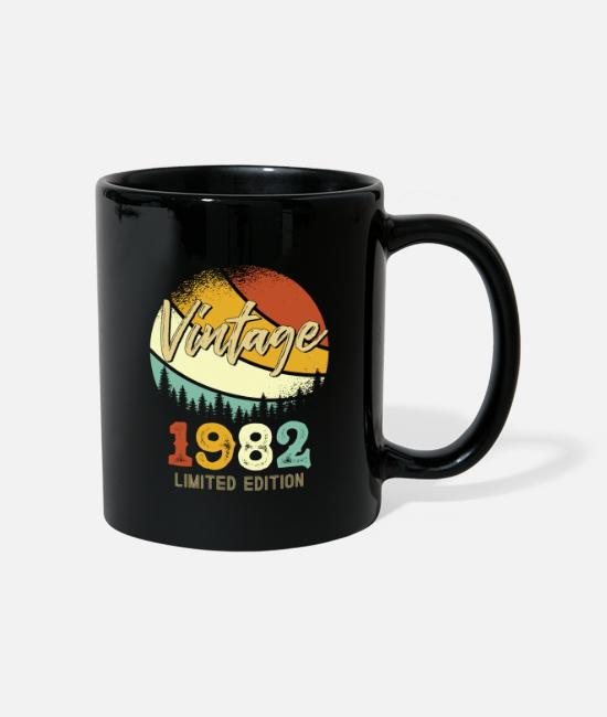 Birth Year Mugs & Drinkware - Vintage 1982 Limited - Mug black