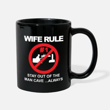 Paleo Wife rule stay out of the man cave - Mug