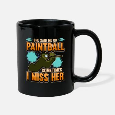 Paintball funny saying marker gotcha gift - Mug