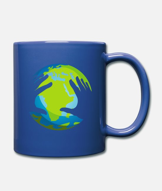 Rasta Mugs & Drinkware - The earth Africa - Mug royal blue