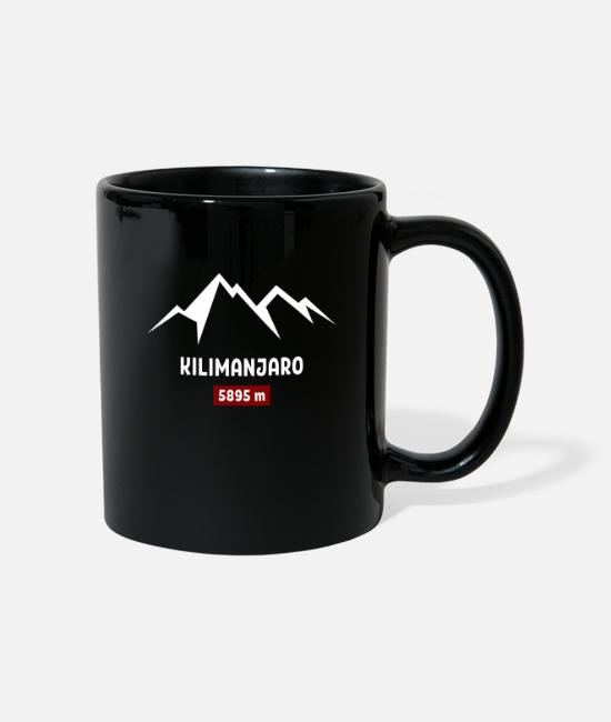 Mountains Mugs & Drinkware - Kilimanjaro mountain - Mug black