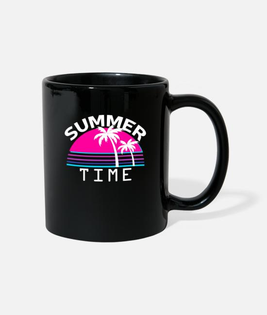 Aesthetic Mugs & Drinkware - Summer Time Vaporwave Cyber 80s 1980 Vapor - Mug black