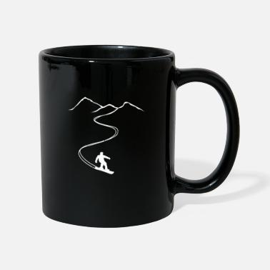 Powder Snow Snowboarder snowboard powder powder snow freeride - Mug