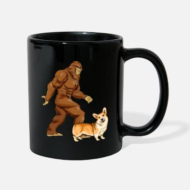 Corgi Lustige Bigfoot Walking Pembroke Welsh Corgi Sasquat - Tasse