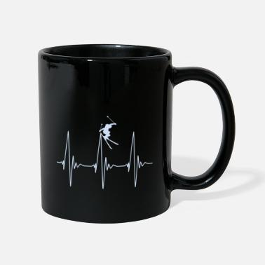 Skiing Heartbeat Ski Freeride - Mug