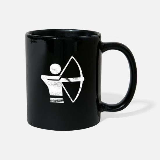 Symbol  Mugs & Drinkware - Archery - pictogram, logo, sign, symbol - Mug black
