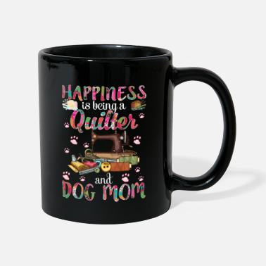 Bowling Happiness Is Being A Quilter And Dog Mom Funny - Mug