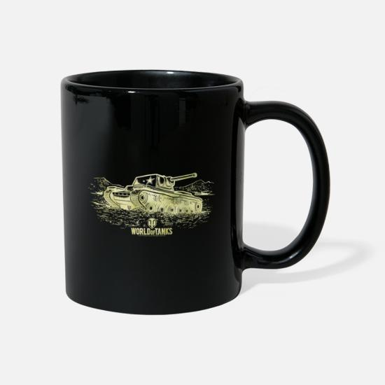 Game Mugs & Drinkware - World Of Tanks KV-1 Golden Version - Mug black
