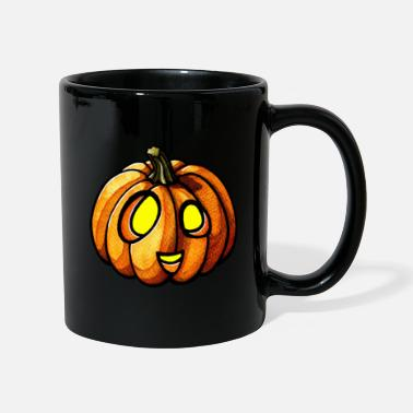 Pumpkin Halloween watercolor scribblesirii - Tasse