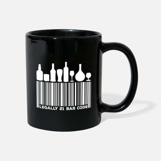 Birthday Mugs & Drinkware - Legally 21 Bar Code Birthday Gift - Mug black