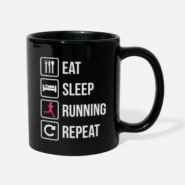 Run Eat Sleep Running Repeat Girl - Mug