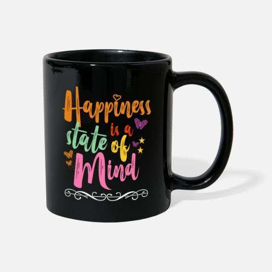 Collection Mugs & Drinkware - Colorful outfit butterfly girl motive - Mug black