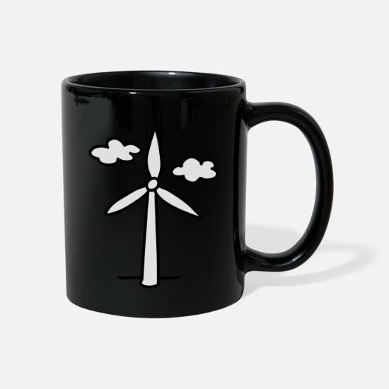 Energy Mugs & Drinkware - Wind turbine - green energy - Mug black
