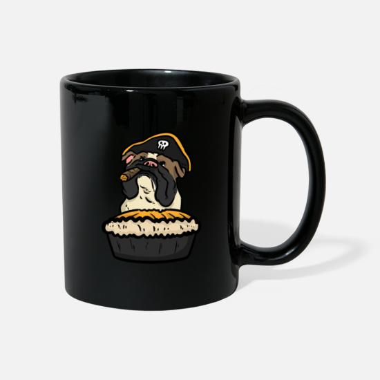 Animal Lover Mugs & Drinkware - Chef Bulldog Pie - Mug black