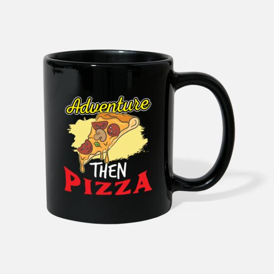 Pizza Mugs & Drinkware - Pizza Italy Food Cheese Dish Dish Tomato - Mug black