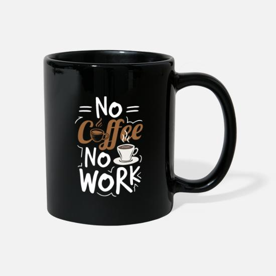 Coffee Bean Mugs & Drinkware - Coffee early risers late risers caffeine work - Mug black