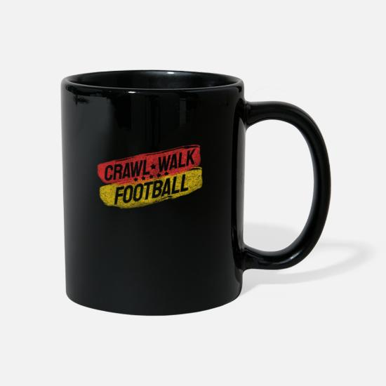 Soccer Mugs & Drinkware - run crawl football soccer baby - Mug black