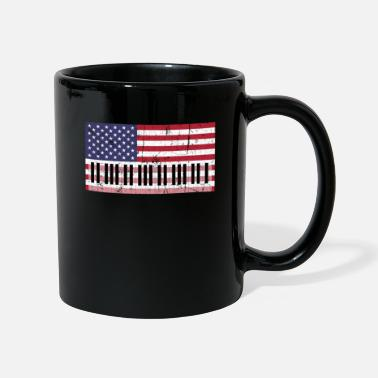 Strip American Flag Piano design - Kopp