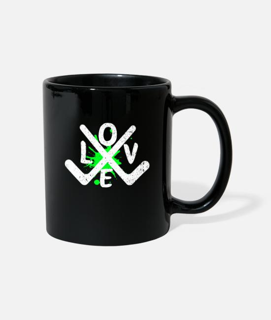 Floor Hockey Mugs & Drinkware - hockey - Mug black