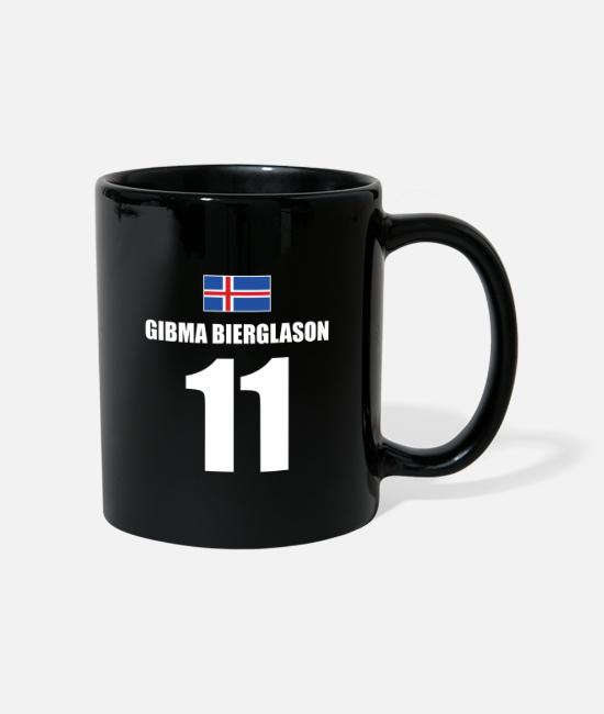 Bachelor Party Mugs & Drinkware - Iceland funny beer jersey - Mug black