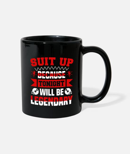 Ascension Mugs & Drinkware - Suit up because tonight will be legendary - Mug black