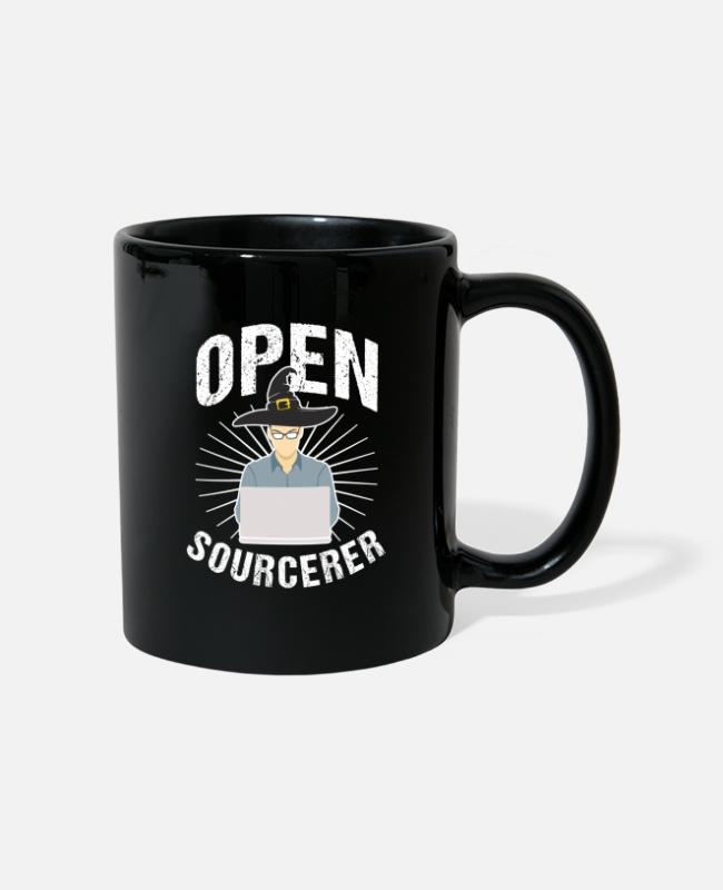 Coder Mugs & Drinkware - Open Sourcerer - Mug black