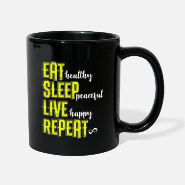 Eat Vegi eat sleep live happy healthy Vegan Vegi - Mug