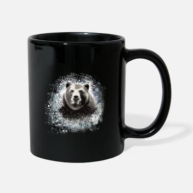 Grisons Bear, graffiti, blue, painting,grey - Mug