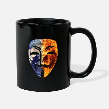 Wikileaks Burning World Mask Anonymous Wikileaks Anonymous - Muki