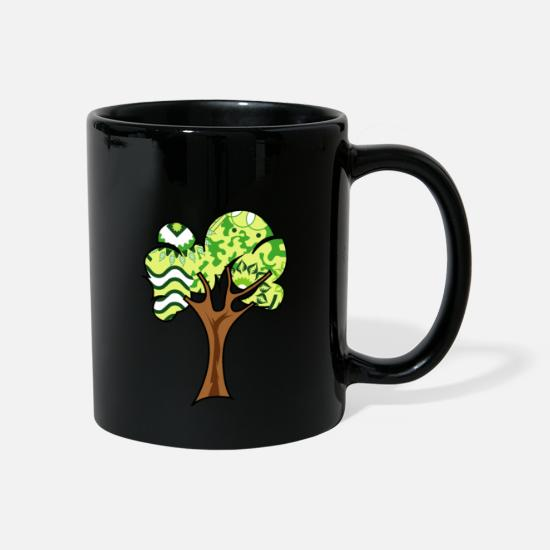 Love Mugs & Drinkware - pattern tree - pattern tree - nature - Mug black