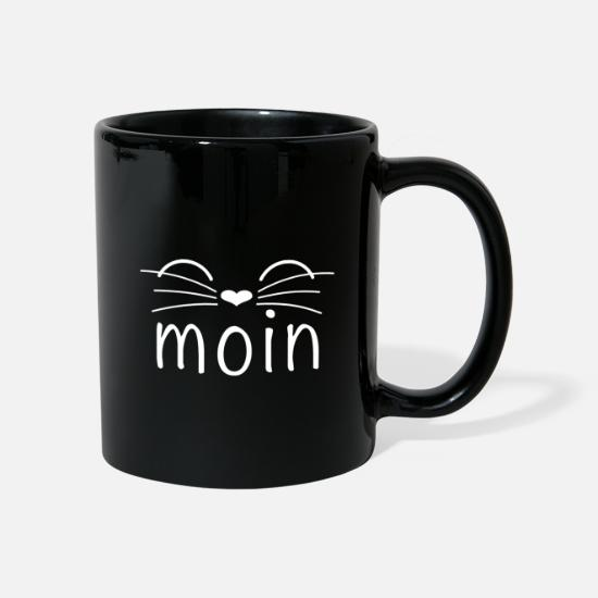 Chaton Mugs et récipients - Moin Cat Saying Ahoy Saying Funny Gift - Mug noir