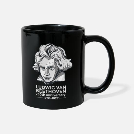 Composer Mugs & Drinkware - Beethoven's 250th birthday composer conductor 250 - Mug black